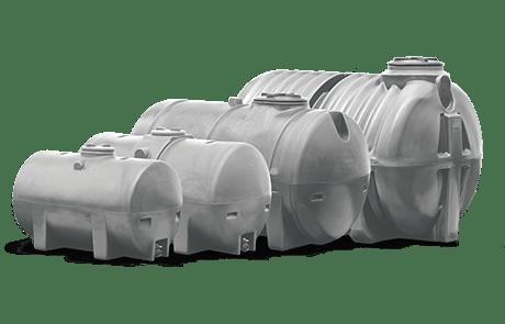 Guadeloupe - Martinique : citernes sur remorque/transport de l'eau - Citernes enterrées (horizontales) - Citerne eau de pluie pour la récupération et le stockage