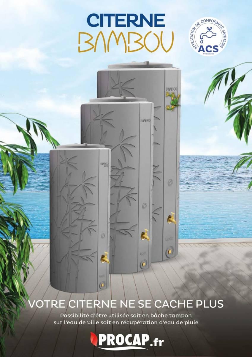 citerne bambou avec attestation de conformité sanitaire